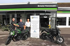 Mike and Paul taking delivery of new ER6 DAS bikes